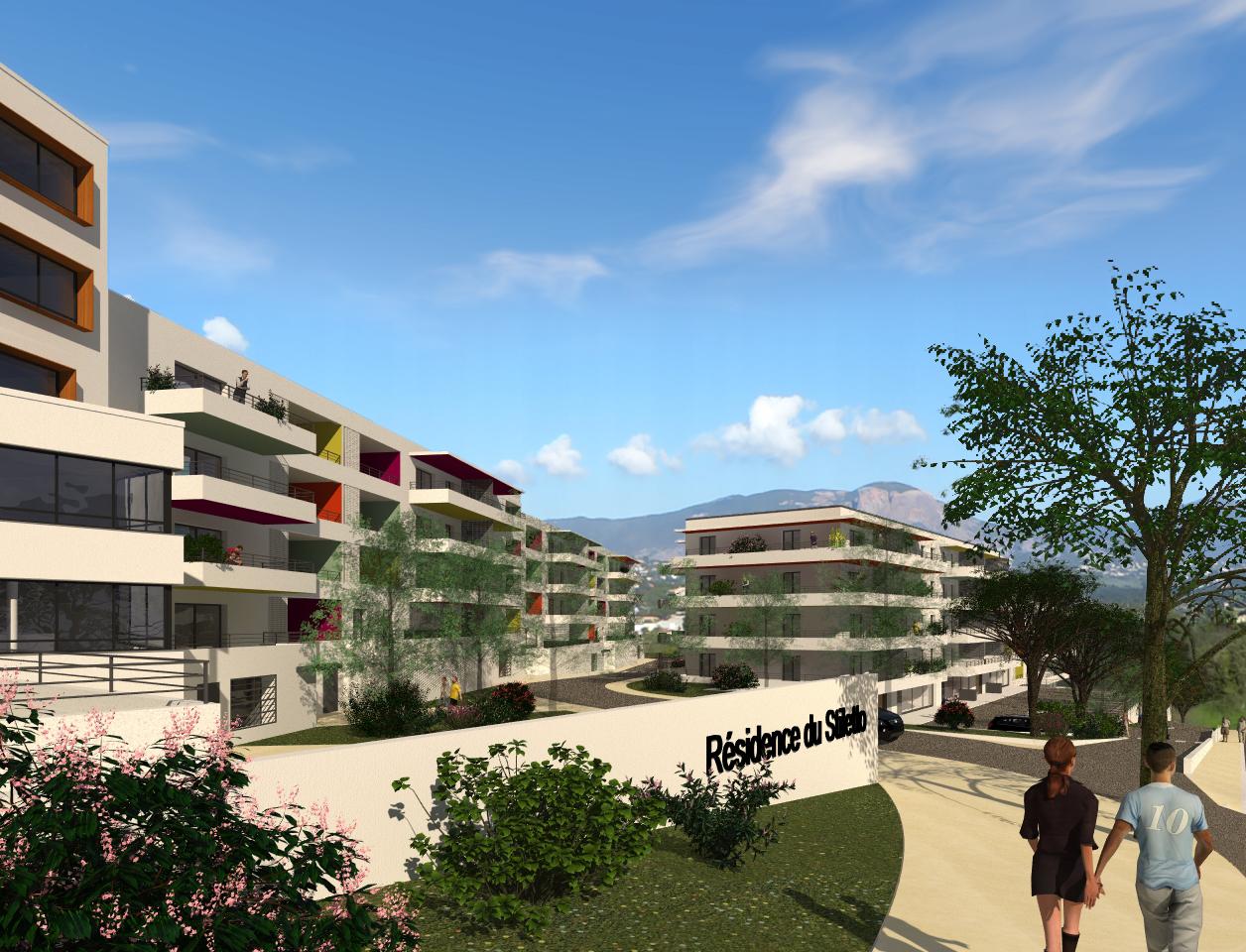 Residence du stiletto programme neuf ajaccio stiletto for Residence neuf